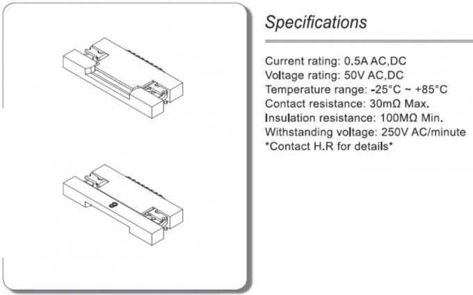 Single Row SATA Connectors 0.5mm Pitch 50V AC / DC SMT Inventer ATA Connectors