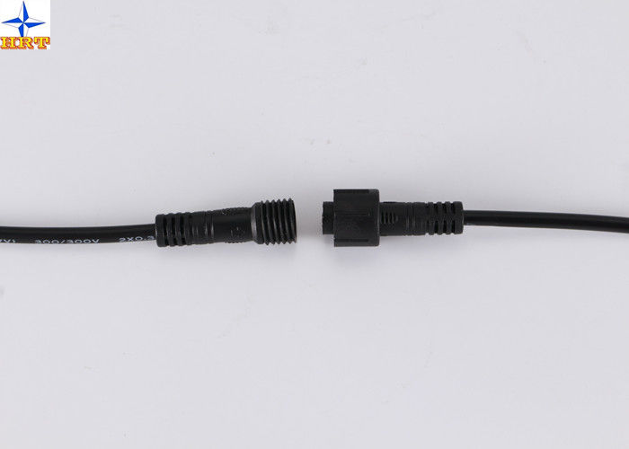 Black M12  / M8 Cable Assembly IP67 Waterproof / Connector Cable Assemblies